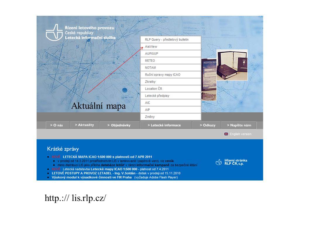 Aktuální mapa http.:// lis.rlp.cz/ lis