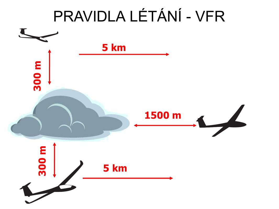 PRAVIDLA LÉTÁNÍ - VFR 5 km 300 m 1500 m 300 m 5 km