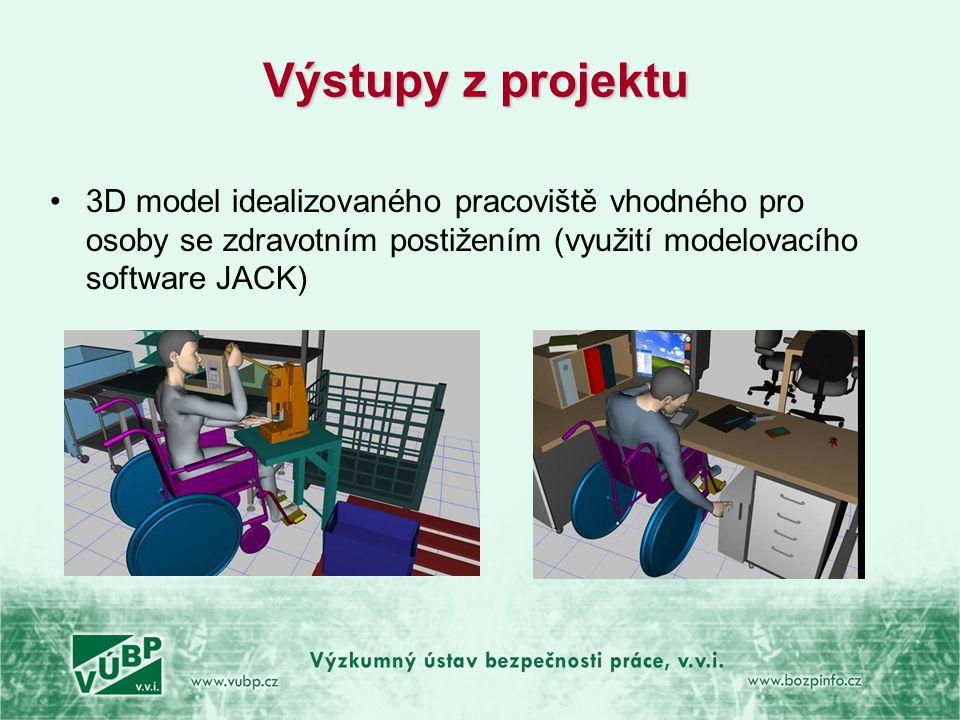 Výstupy z projektu 3D model idealizovaného pracoviště vhodného pro osoby se zdravotním postižením (využití modelovacího software JACK)