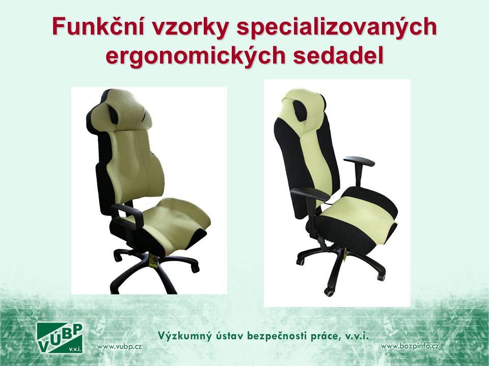 Funkční vzorky specializovaných ergonomických sedadel