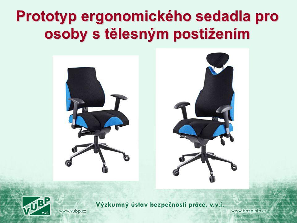 Prototyp ergonomického sedadla pro osoby s tělesným postižením