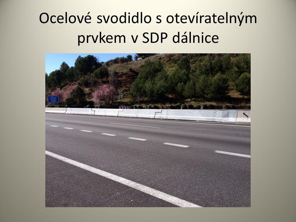 Ocelové svodidlo s otevíratelným prvkem v SDP dálnice