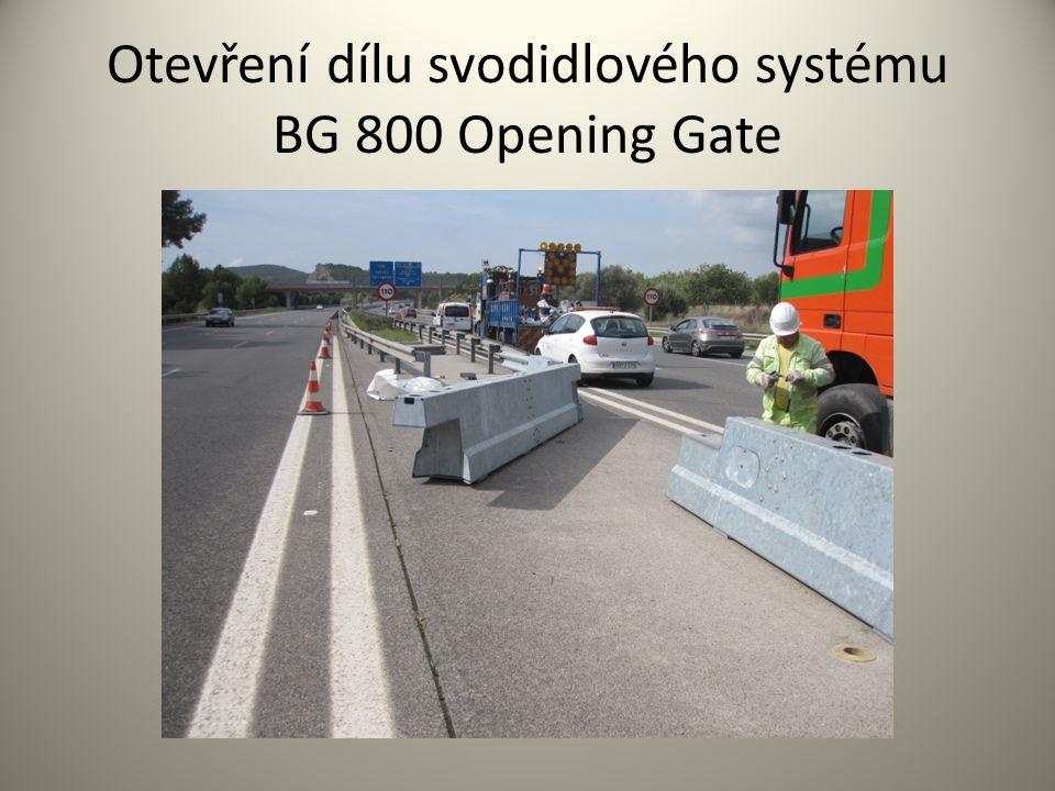 Otevření dílu svodidlového systému BG 800 Opening Gate