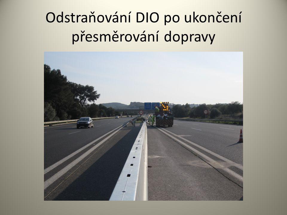 Odstraňování DIO po ukončení přesměrování dopravy