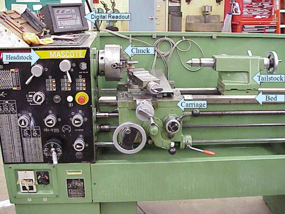 Digital Readout Chuck Headstock Tailstock Bed Carriage