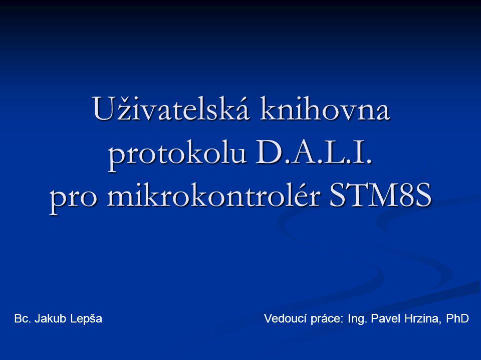 Uživatelská knihovna protokolu D.A.L.I. pro mikrokontrolér STM8S