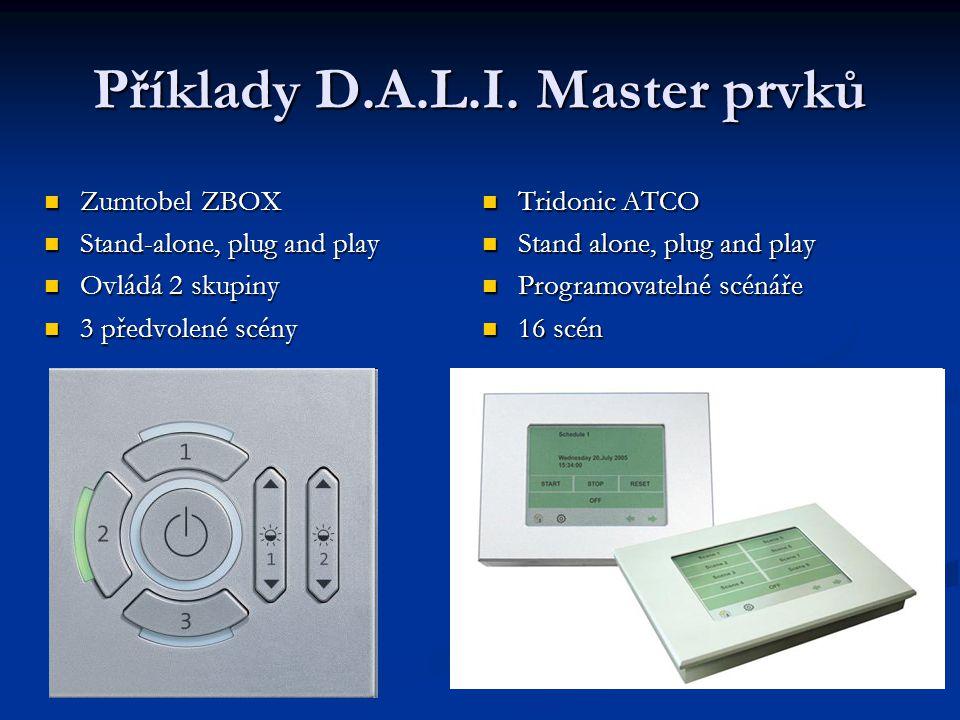 Příklady D.A.L.I. Master prvků