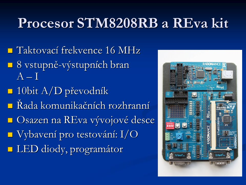 Procesor STM8208RB a REva kit