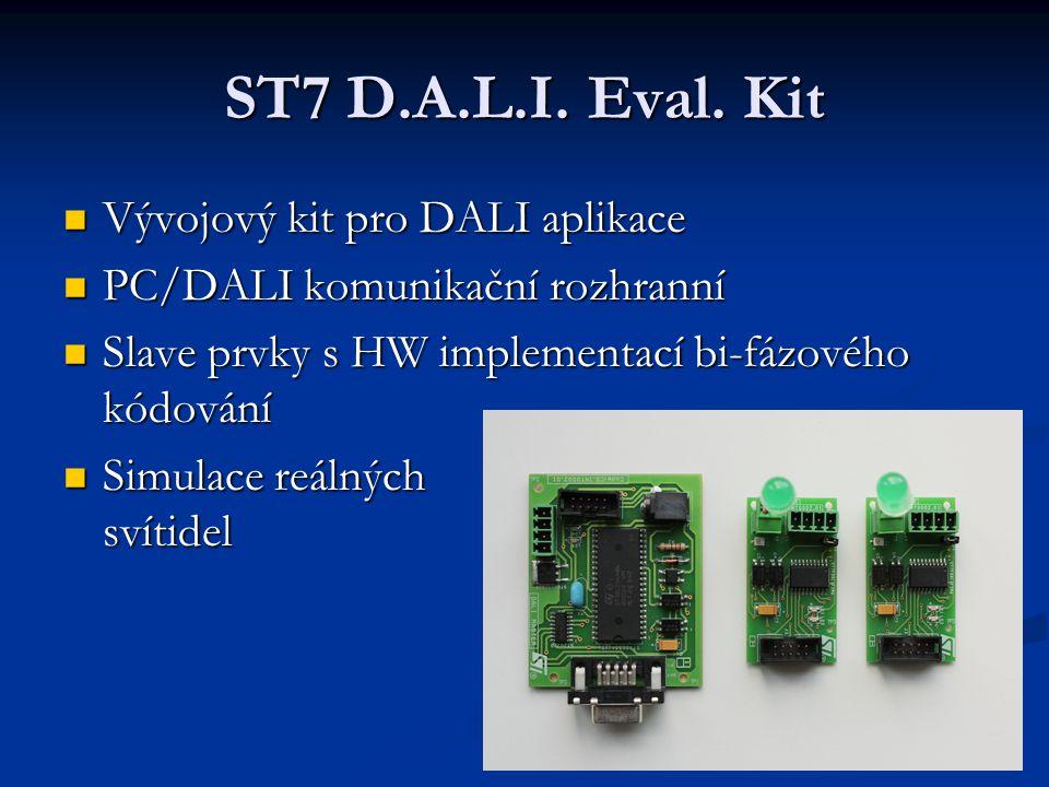 ST7 D.A.L.I. Eval. Kit Vývojový kit pro DALI aplikace