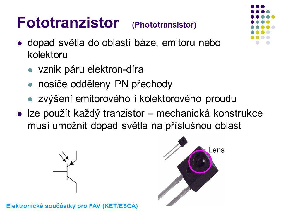 Fototranzistor (Phototransistor)