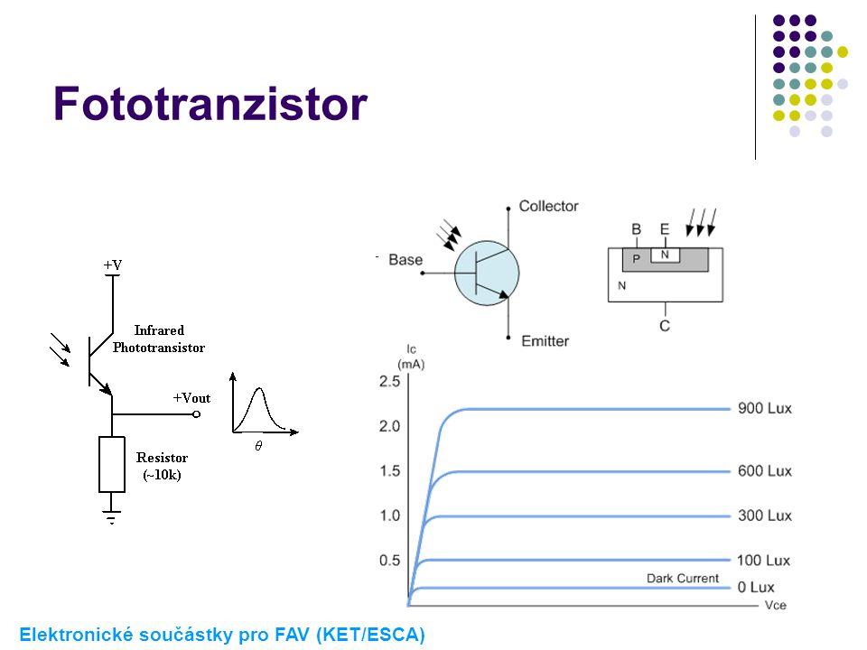 Fototranzistor Elektronické součástky pro FAV (KET/ESCA)
