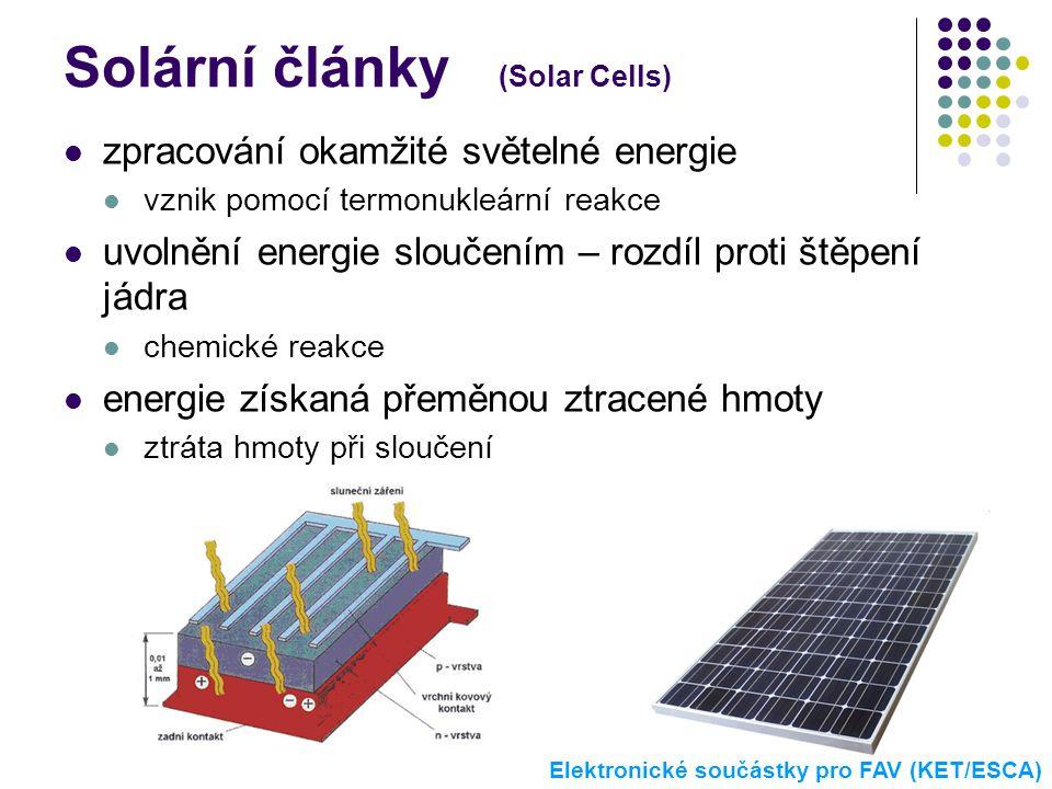 Solární články (Solar Cells)