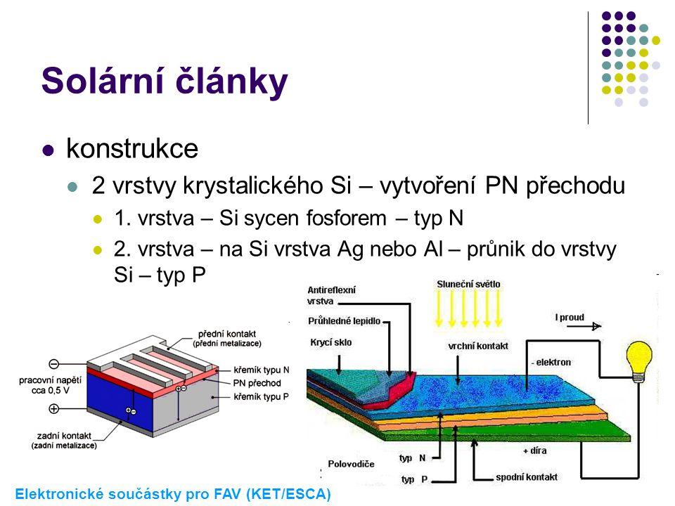 Solární články konstrukce