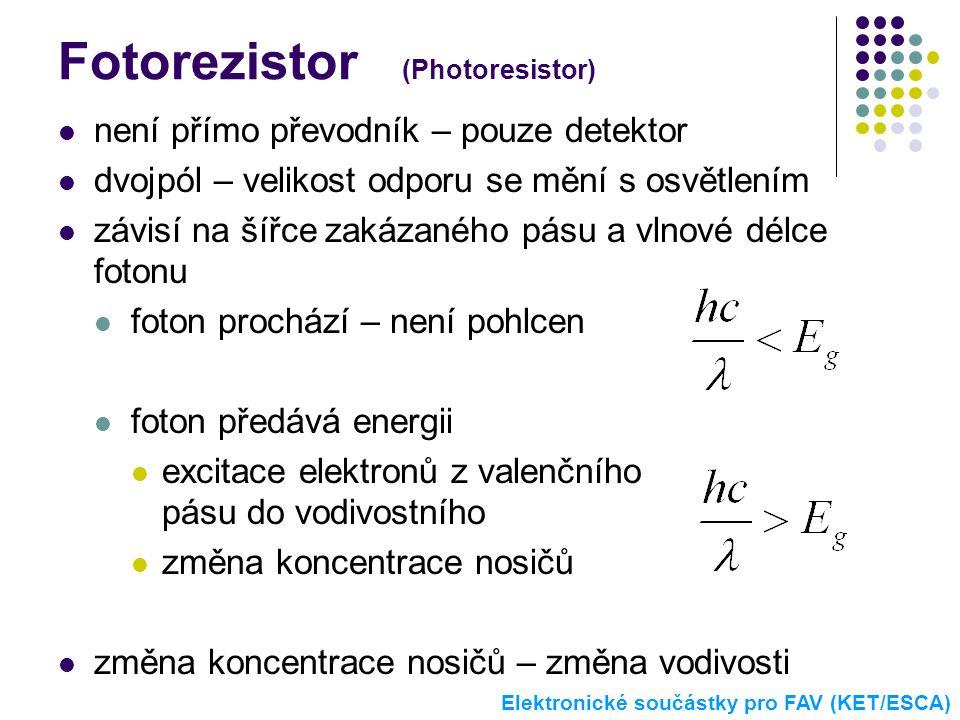 Fotorezistor (Photoresistor)