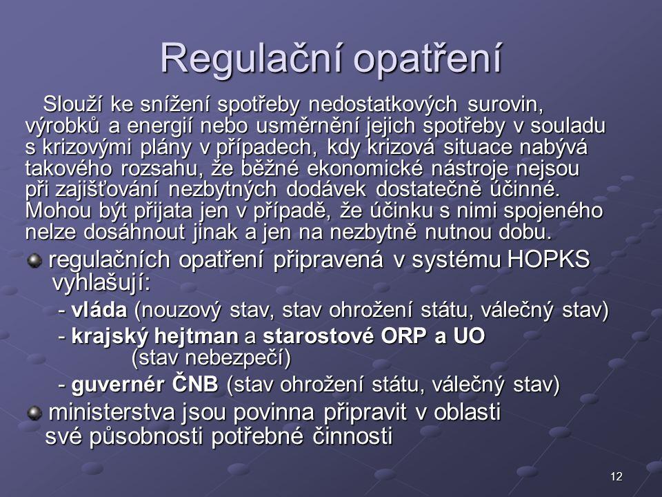 Regulační opatření