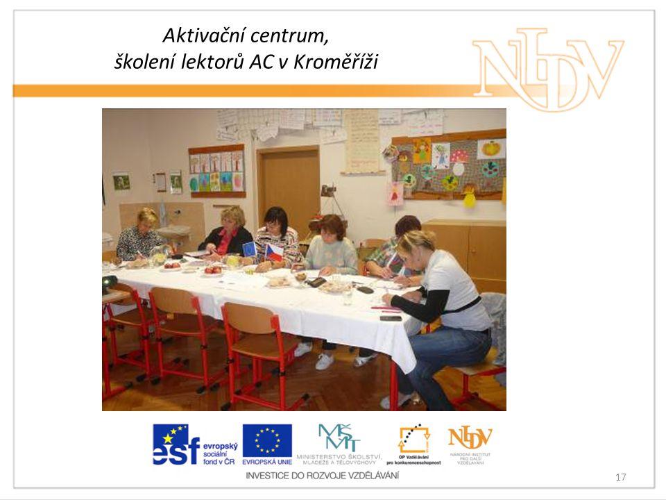 Aktivační centrum, školení lektorů AC v Kroměříži