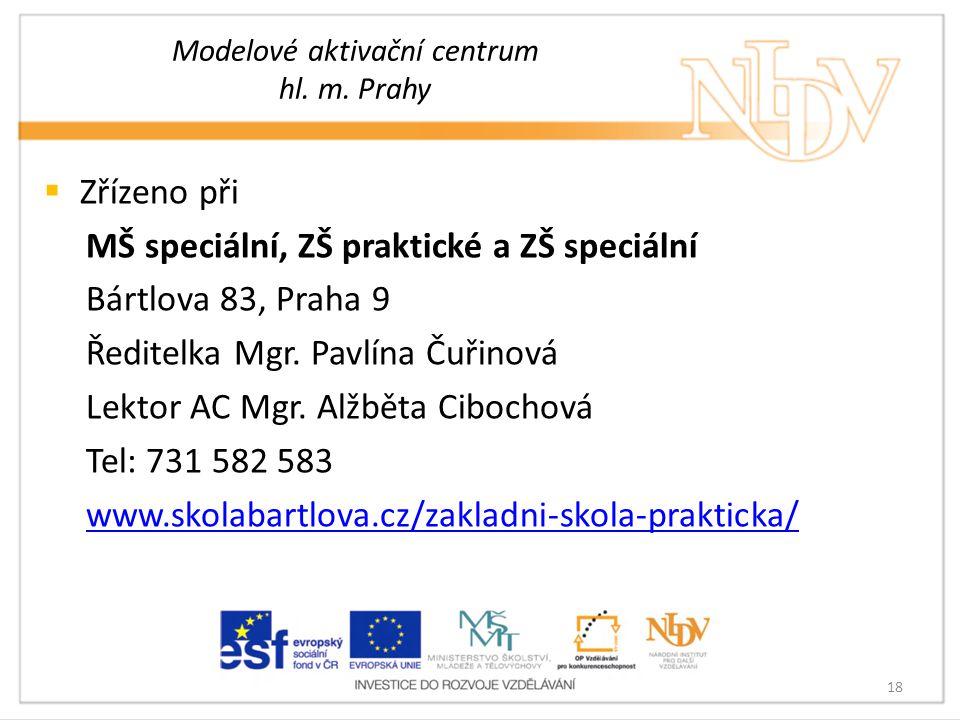 Modelové aktivační centrum hl. m. Prahy