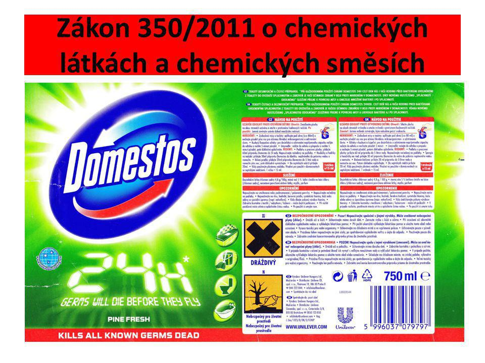 Zákon 350/2011 o chemických látkách a chemických směsích