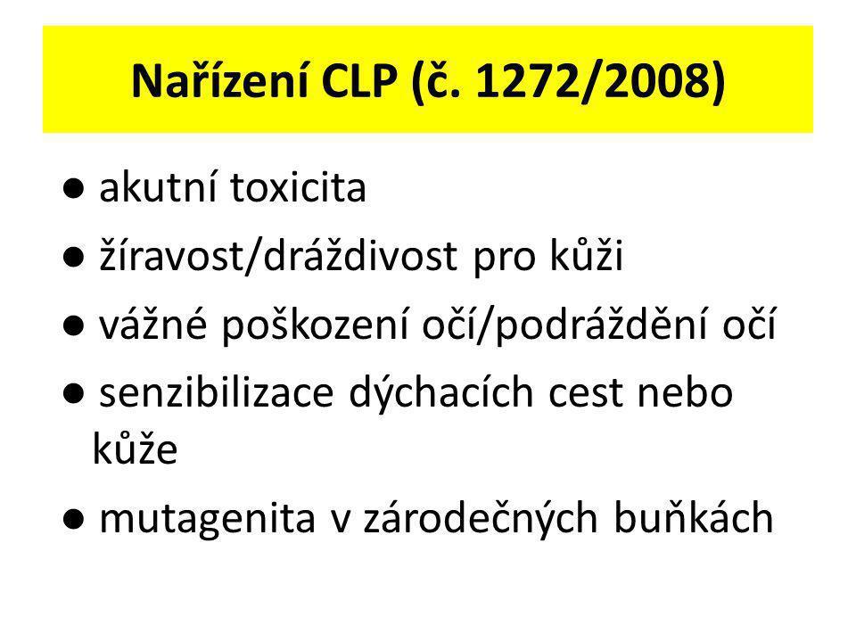 Nařízení CLP (č. 1272/2008) ● akutní toxicita