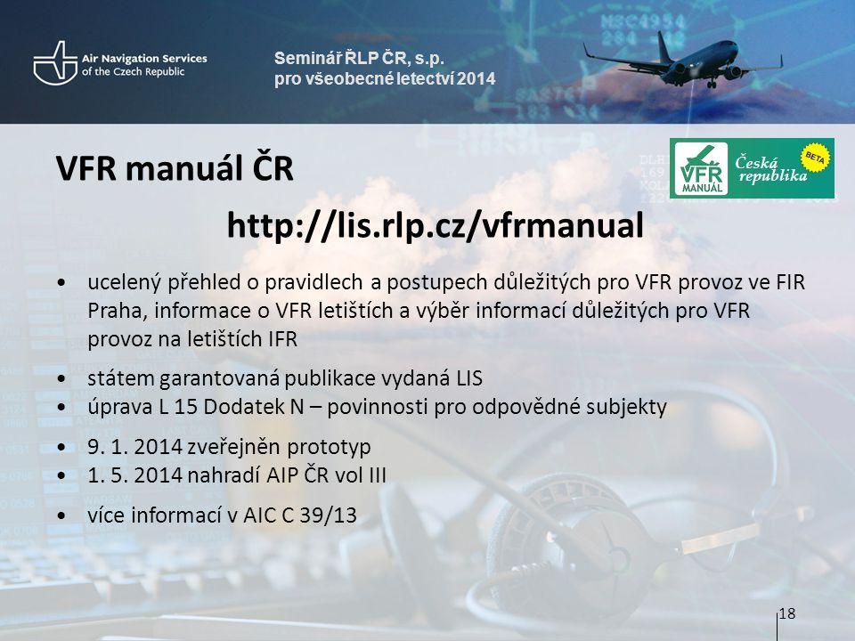 VFR manuál ČR http://lis.rlp.cz/vfrmanual