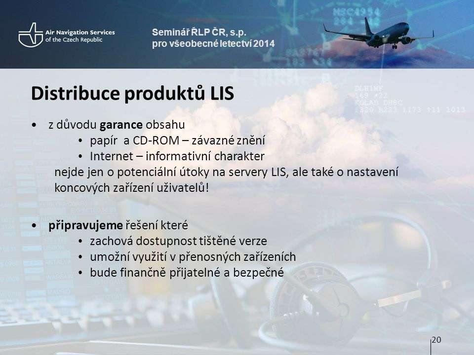 Distribuce produktů LIS
