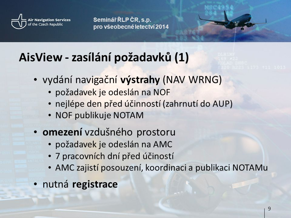 AisView - zasílání požadavků (1)