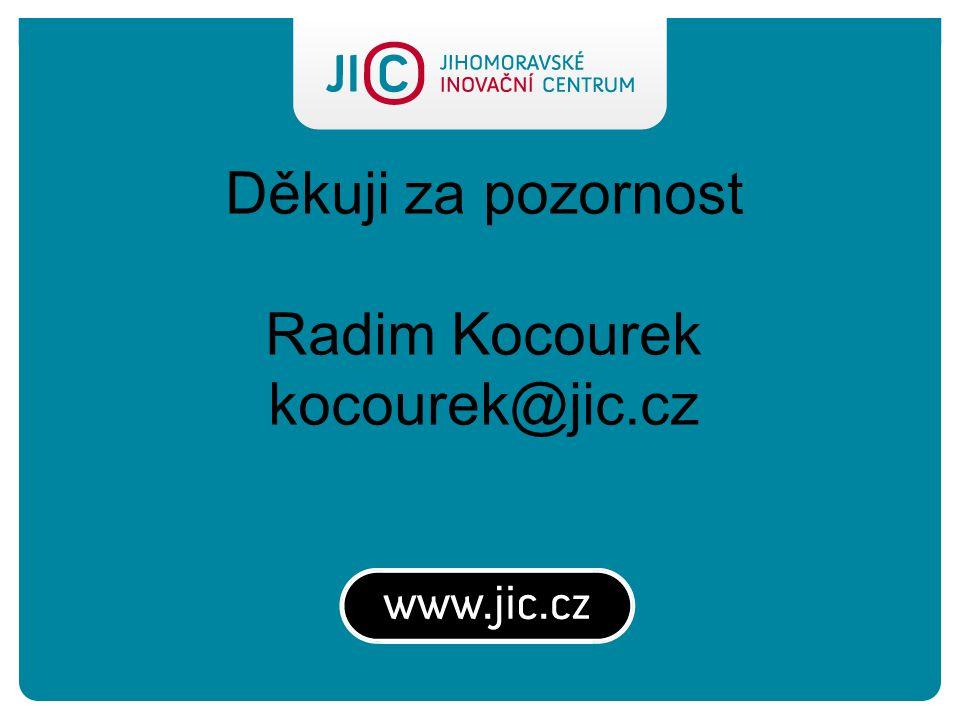Děkuji za pozornost Radim Kocourek kocourek@jic.cz
