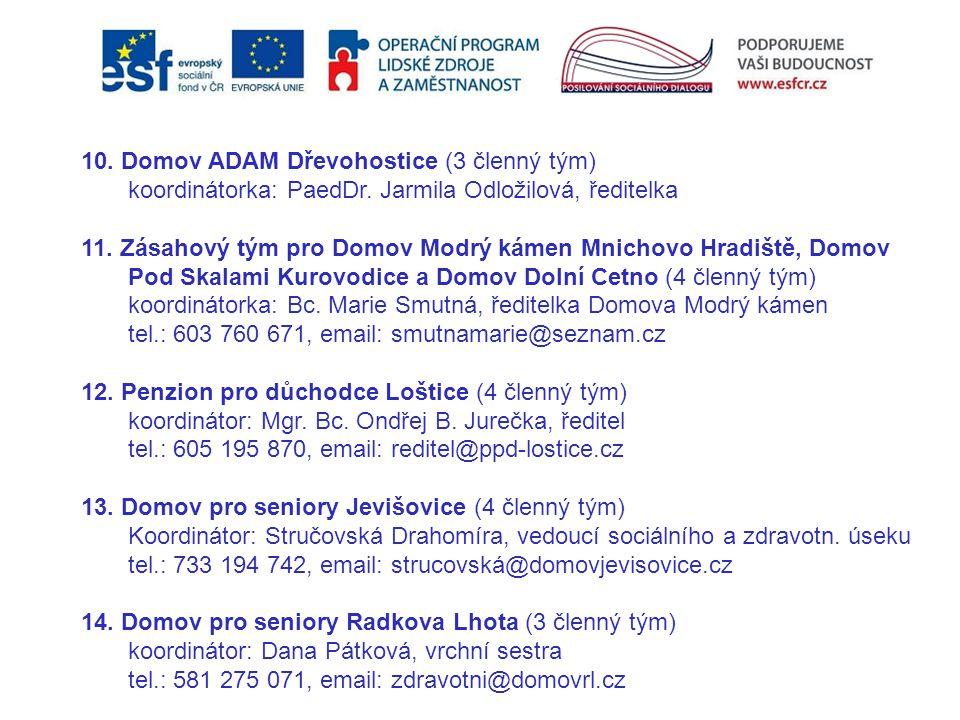 10. Domov ADAM Dřevohostice (3 členný tým)