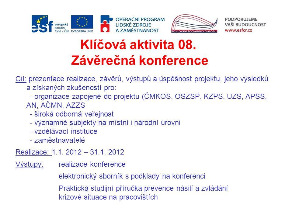 Klíčová aktivita 08. Závěrečná konference