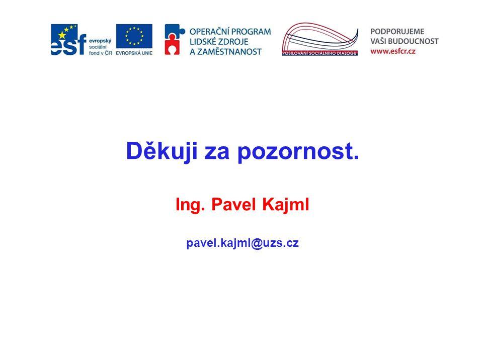 Děkuji za pozornost. Ing. Pavel Kajml pavel.kajml@uzs.cz záh záh záh