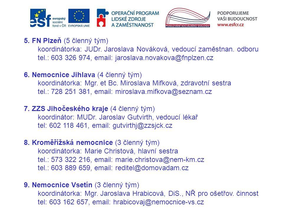 koordinátorka: JUDr. Jaroslava Nováková, vedoucí zaměstnan. odboru