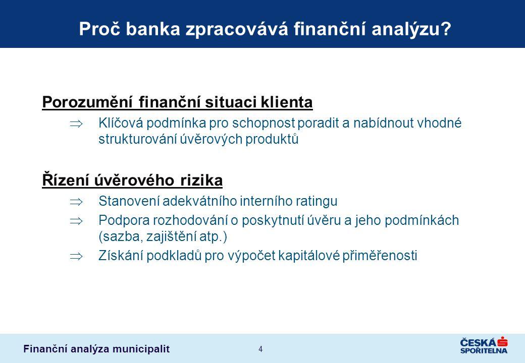 Proč banka zpracovává finanční analýzu