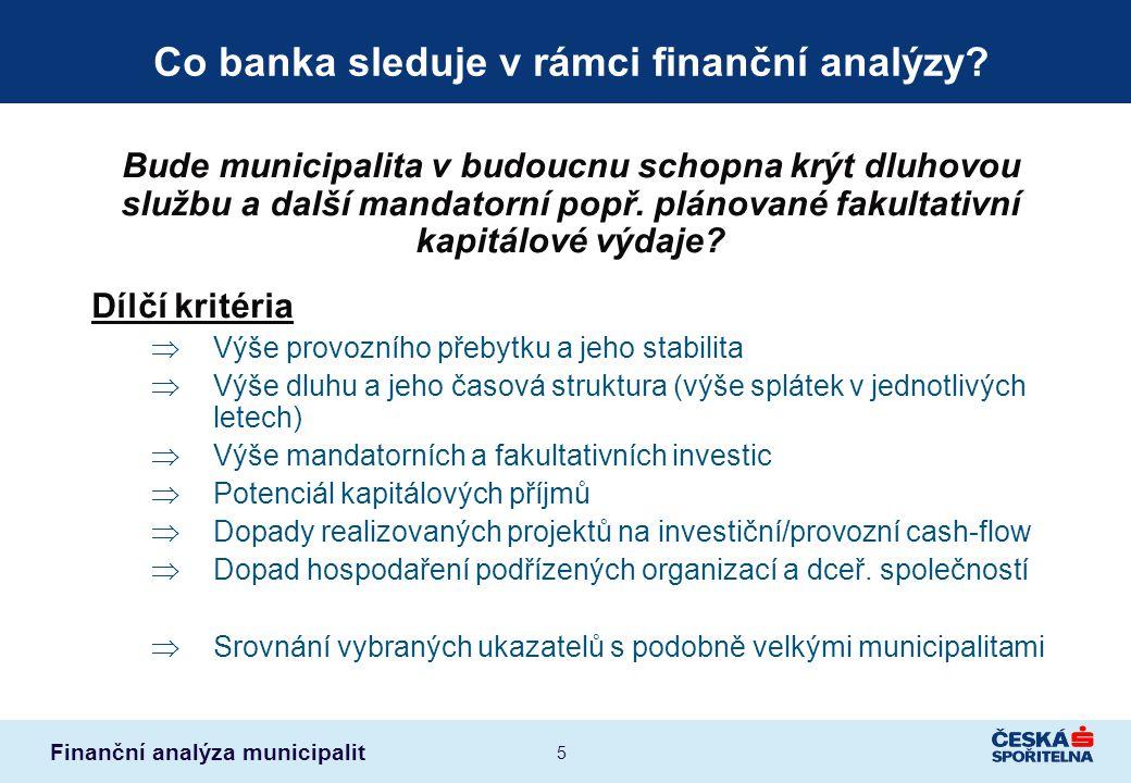Co banka sleduje v rámci finanční analýzy