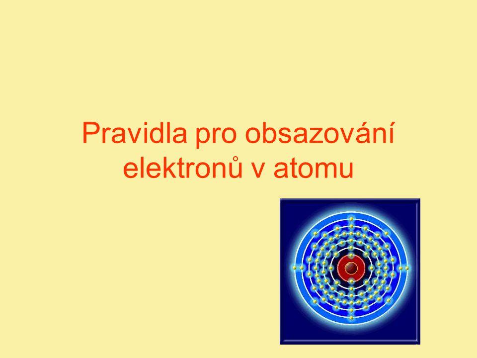 Pravidla pro obsazování elektronů v atomu