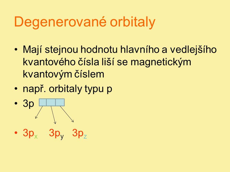 Degenerované orbitaly