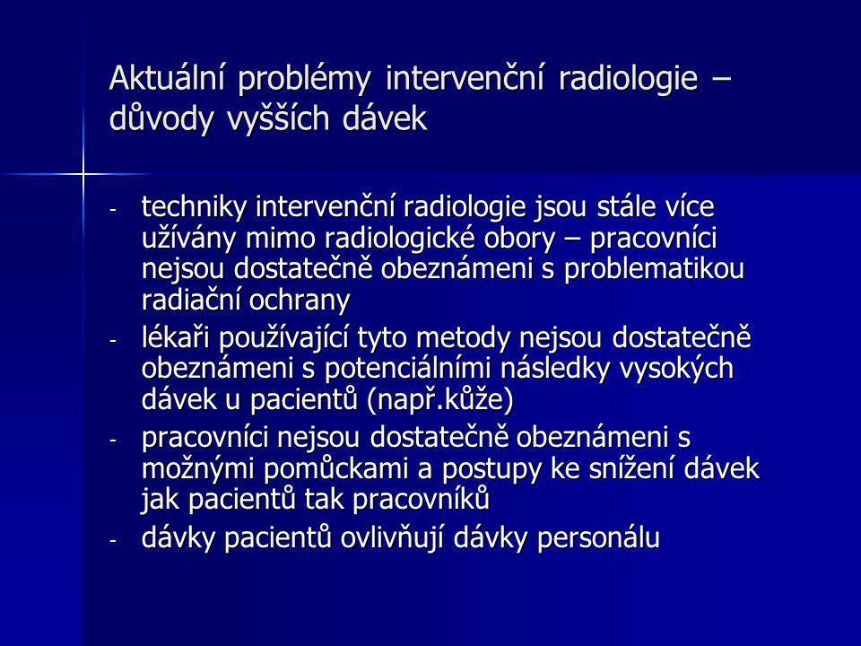 Aktuální problémy intervenční radiologie – důvody vyšších dávek