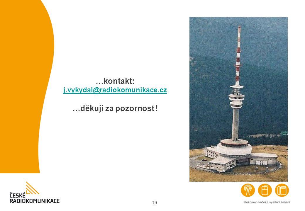 …kontakt: j.vykydal@radiokomunikace.cz …děkuji za pozornost !