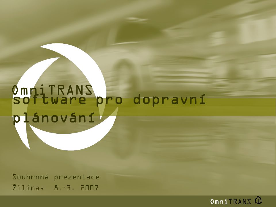 software pro dopravní plánování