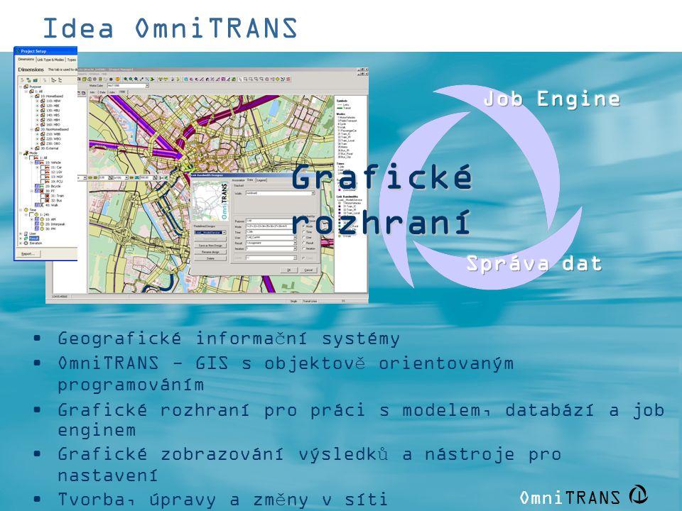 Grafické rozhraní Idea OmniTRANS Job Engine Správa dat