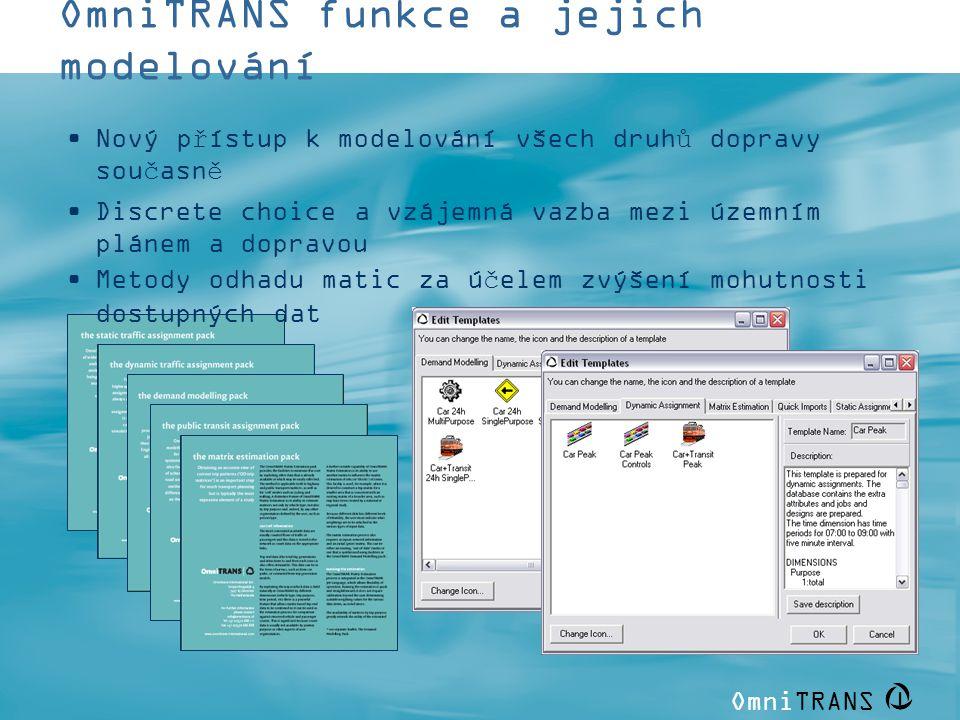 OmniTRANS funkce a jejich modelování