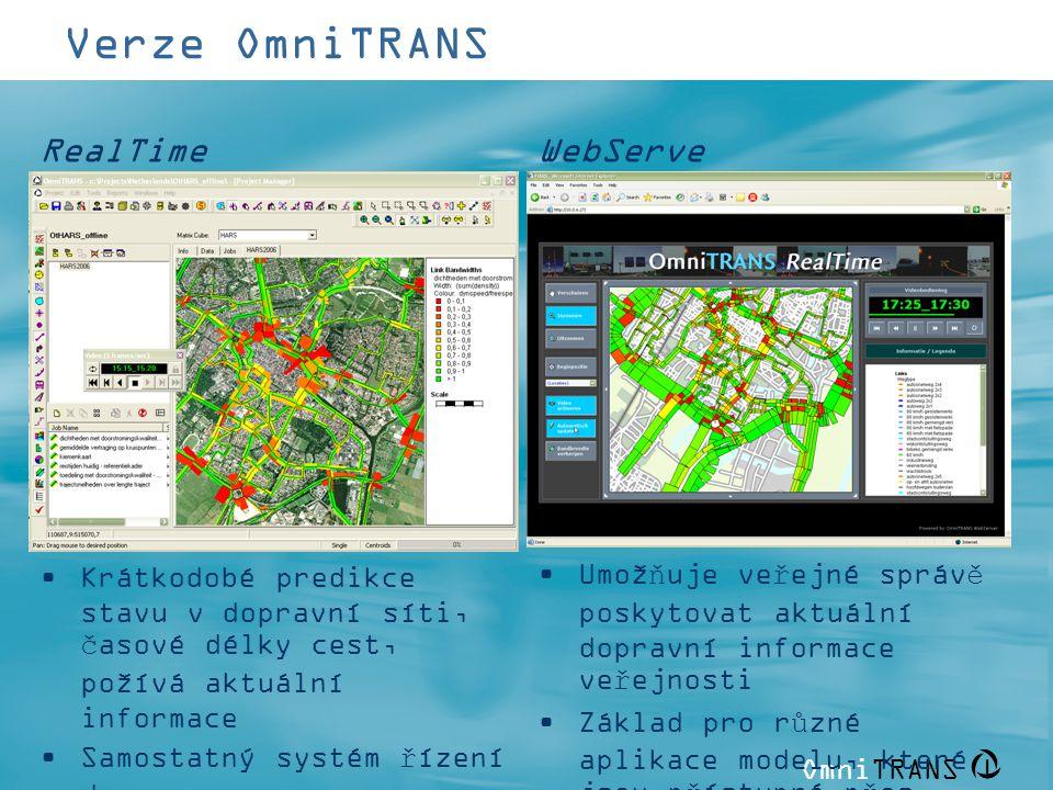 Verze OmniTRANS RealTime WebServer