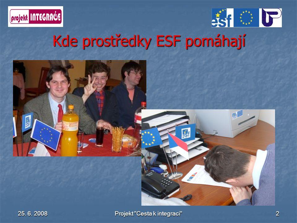 Kde prostředky ESF pomáhají