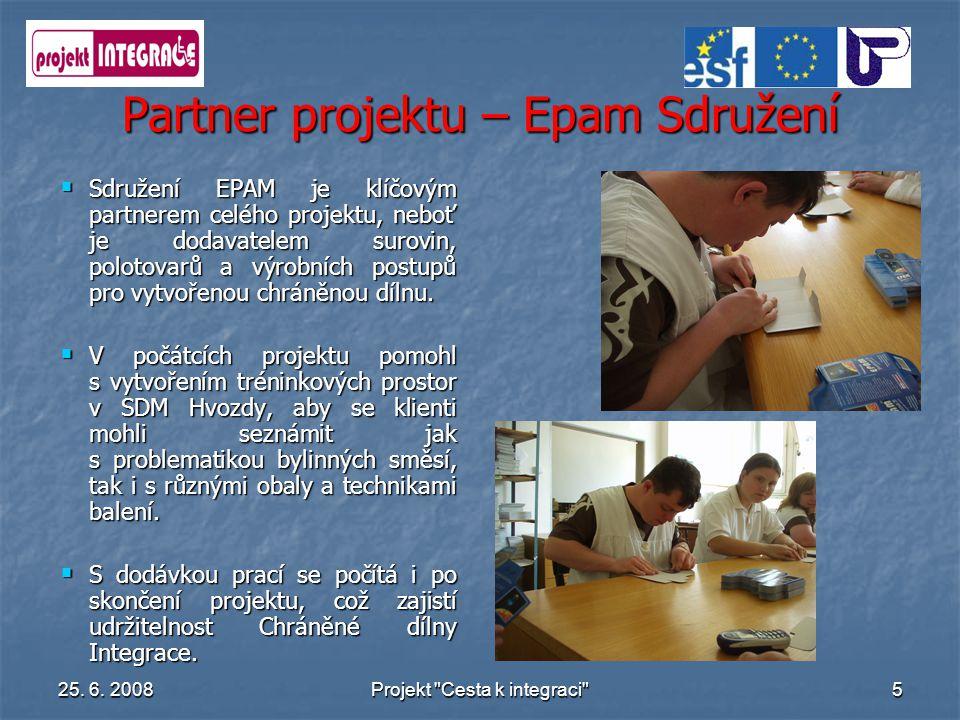 Partner projektu – Epam Sdružení