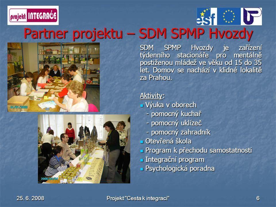 Partner projektu – SDM SPMP Hvozdy