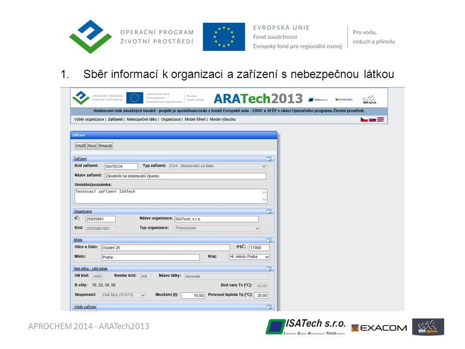 Sběr informací k organizaci a zařízení s nebezpečnou látkou