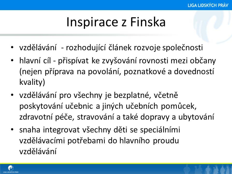 Inspirace z Finska vzdělávání - rozhodující článek rozvoje společnosti