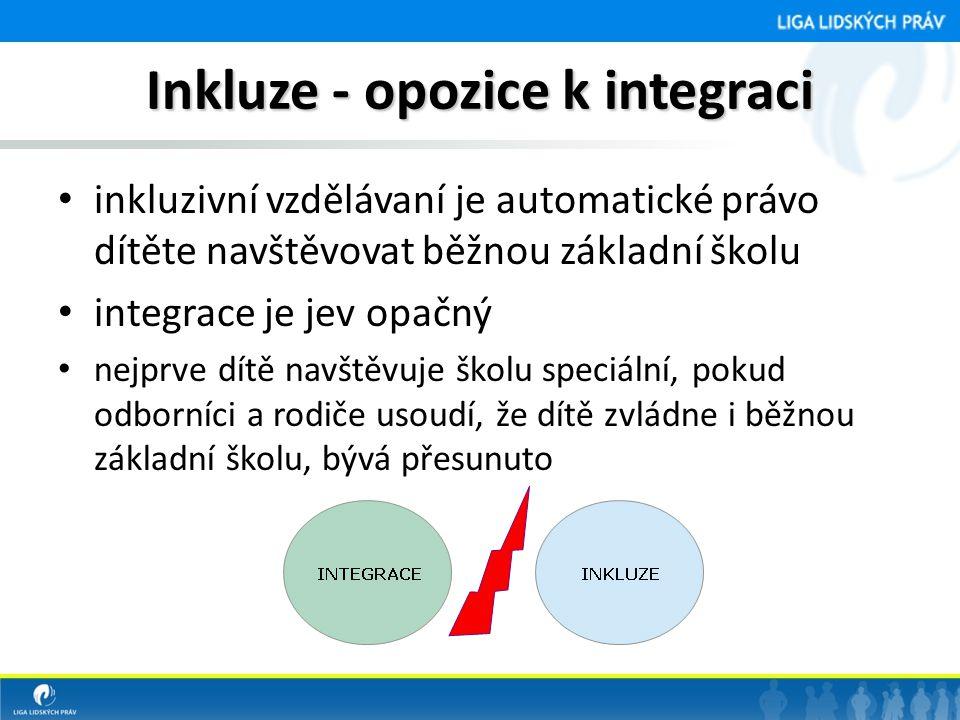 Inkluze - opozice k integraci