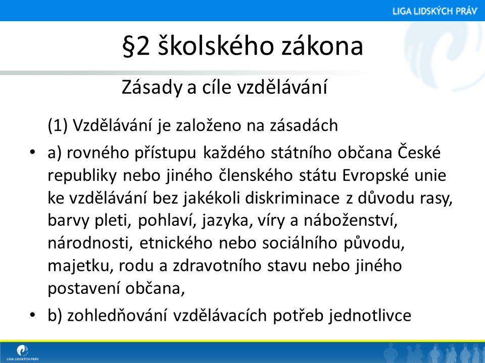 §2 školského zákona Zásady a cíle vzdělávání