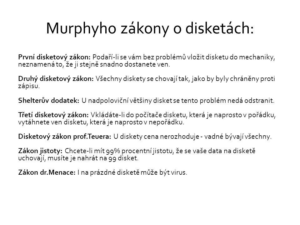 Murphyho zákony o disketách: