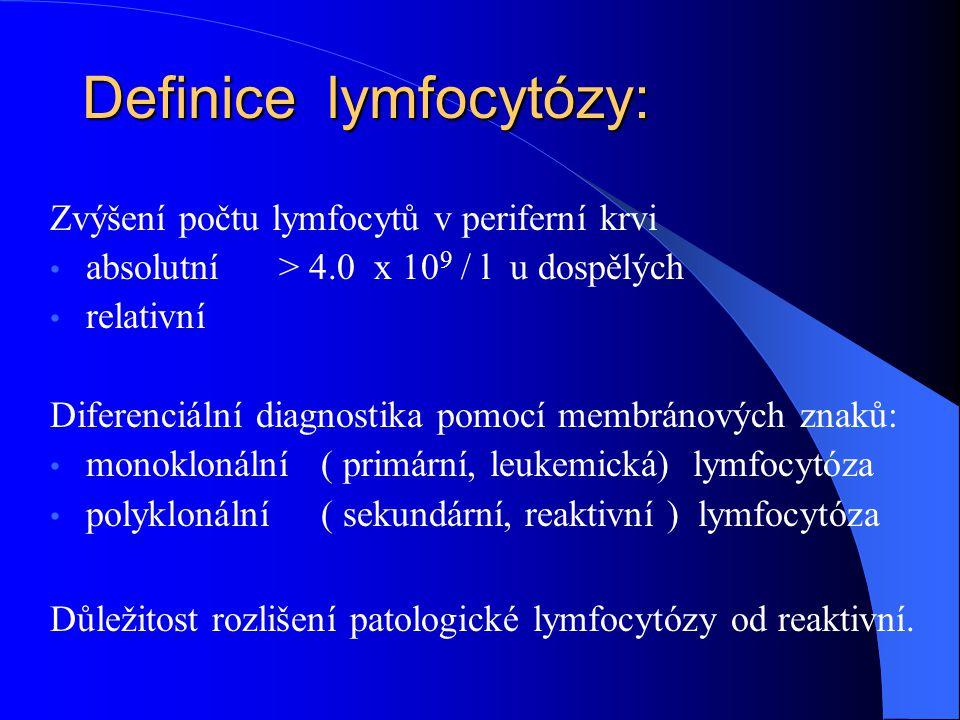 Definice lymfocytózy: